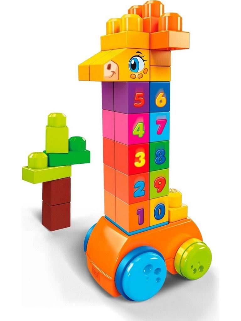 Конструктор Mattel Mega Bloks Жираф 123 GFG19