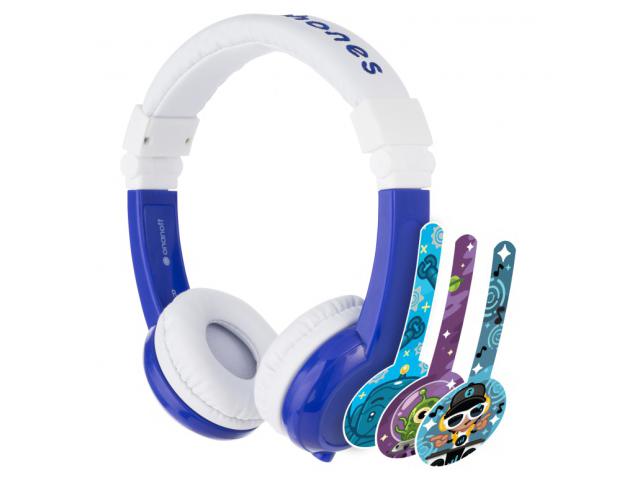 Наушники Onanoff BuddyPhones Explore Foldable BP-EX-FD-BLUE-01-K