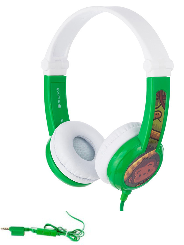 Наушники Onanoff BuddyPhones Connect Foldable BP-CO-GREEN-01-K