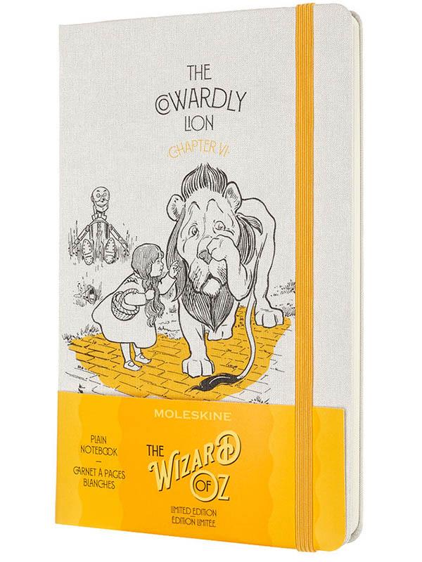 Блокнот Moleskine Le Wizard Of Oz Large 130х210mm 120 листов White-Yellow LEWOZQP062CL / 1216434