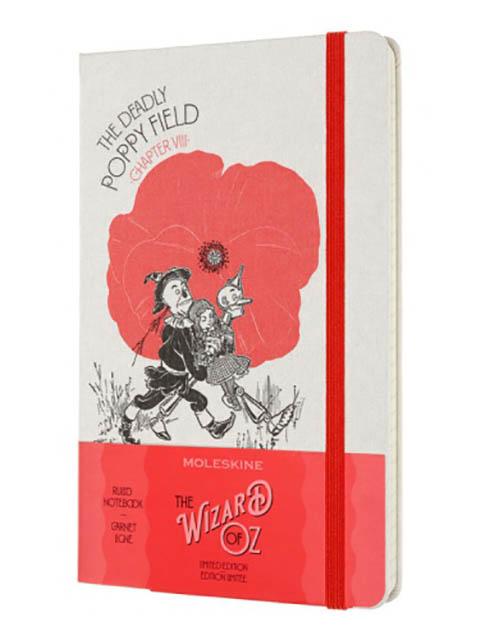 Блокнот Moleskine Le Wizard Of Oz Large 130х210mm 120 листов White-Red LEWOZQP060PF