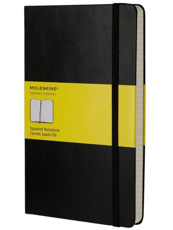 Блокнот Moleskine Classic Large 130х210mm 120 листов Black QP061
