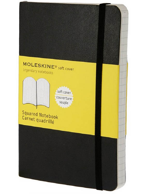 Блокнот Moleskine Classic Soft Pocket 90x140mm 96 листов Black QP612 / 385248