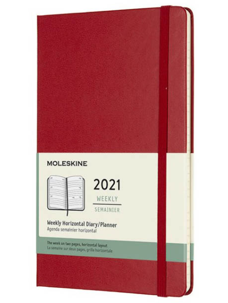Ежедневник Moleskine Classic Wlly Large 130х210mm 72 листа Red DHF212WH3