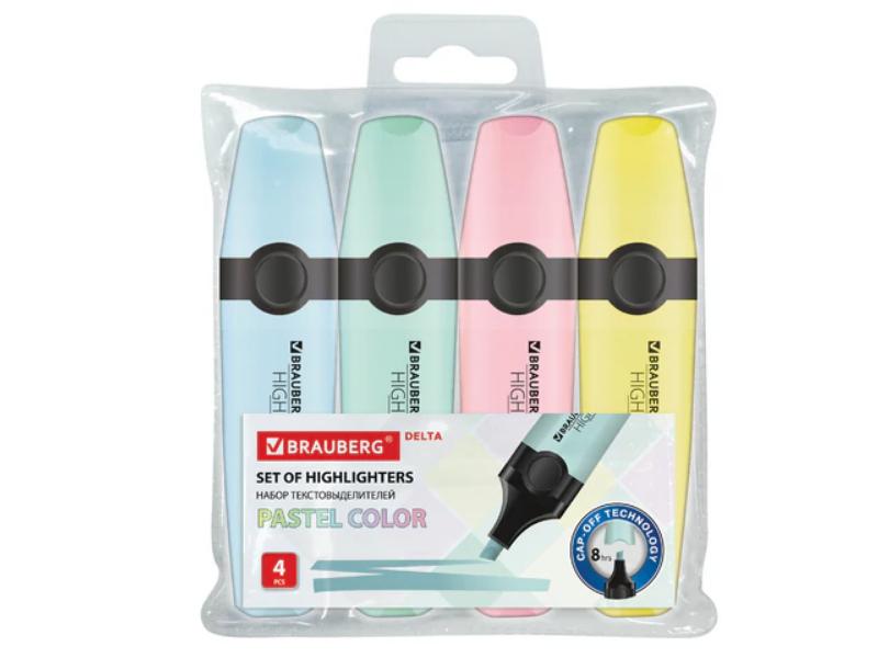 Маркер Brauberg Delta Pastel 1-5mm 4 цвета 151735