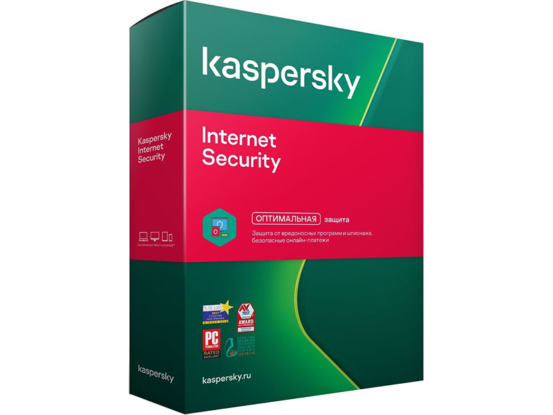 Программное обеспечение Kaspersky Internet Security Rus 5-Device 1 year Base Box KL1939RBEFS