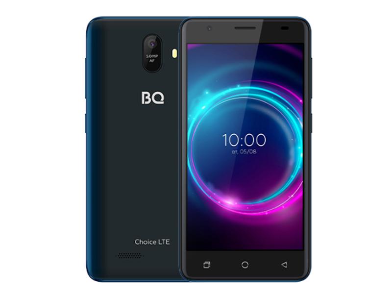 Сотовый телефон BQ 5046L Choice LTE Deep Blue сотовый телефон bq 5731l magic s deep blue