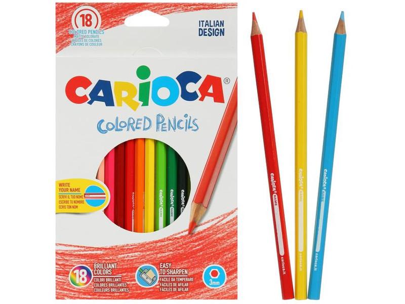 Карандаши цветные Carioca 18 цветов 41865