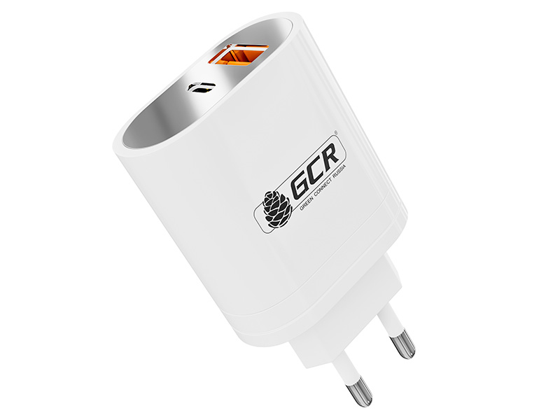 Зарядное устройство Greenconnect USB Type-A + Type-C 36W PD18W Quick Charge 3.0 GCR-52579
