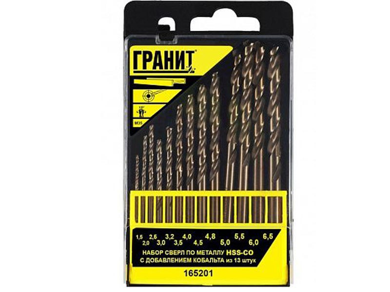 Набор сверл Гранит по металлу HSS-Co 13шт 165201