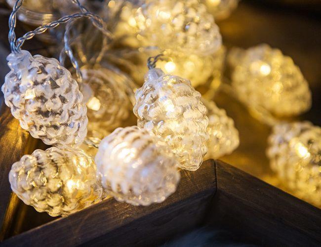 Гирлянда Kaemingk Ледяные шишки 20 LED-огней 3.8+3m Warm White 481872 / 162046