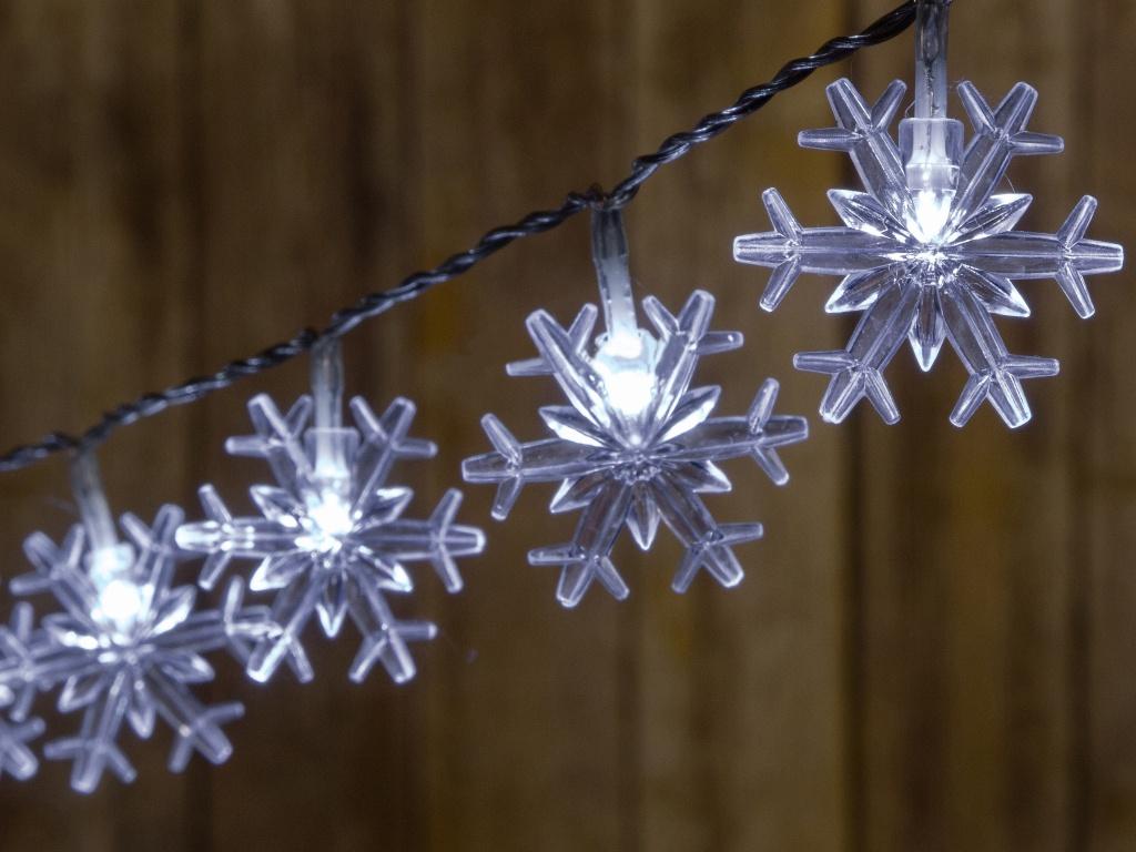 Гирлянда Kaemingk Снежинки 40 LED-огней 4+3m Cold White 481996 / 162863