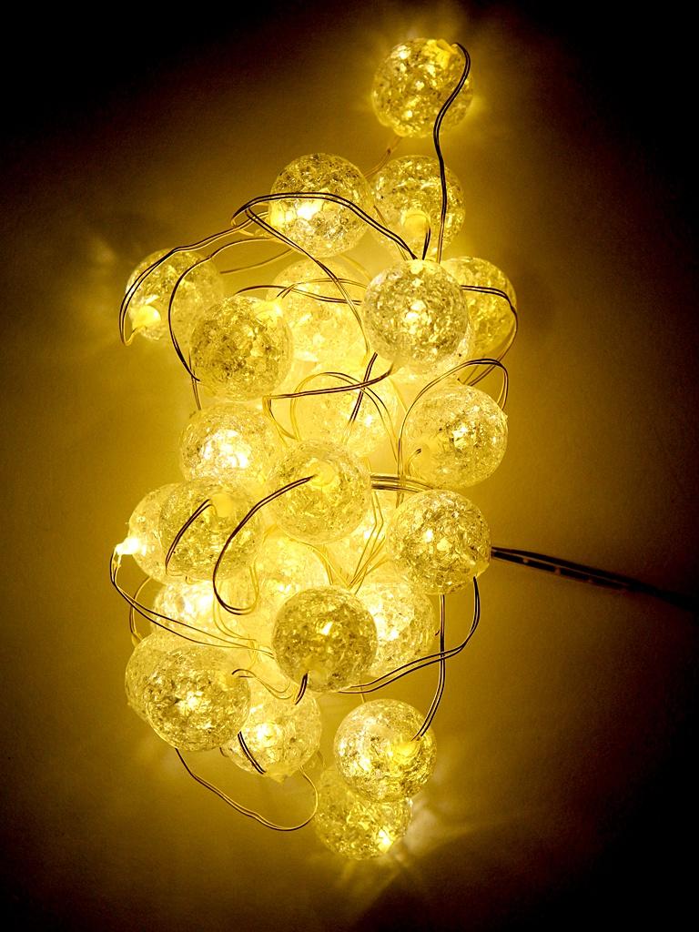 Гирлянда Kaemingk Шарики-Кракле 30 LED-огней 3+3m Warm White 1050854 / 168796