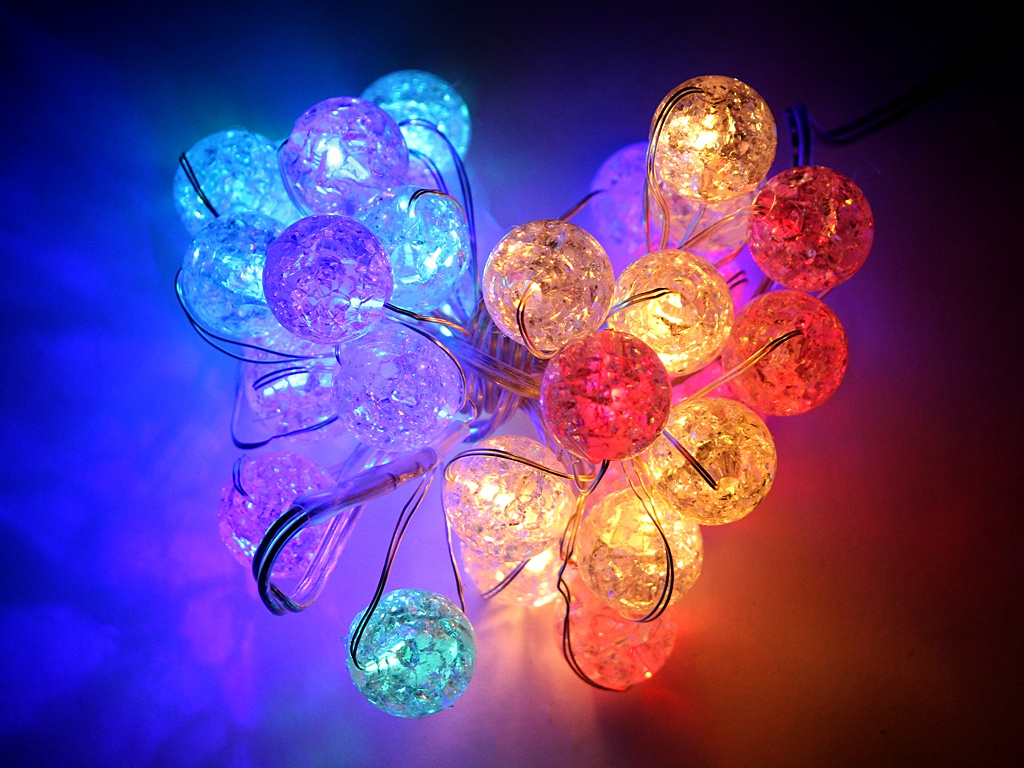 Гирлянда Kaemingk Шарики-Кракле 30 LED-огней 3+3m 1050856 / 168798