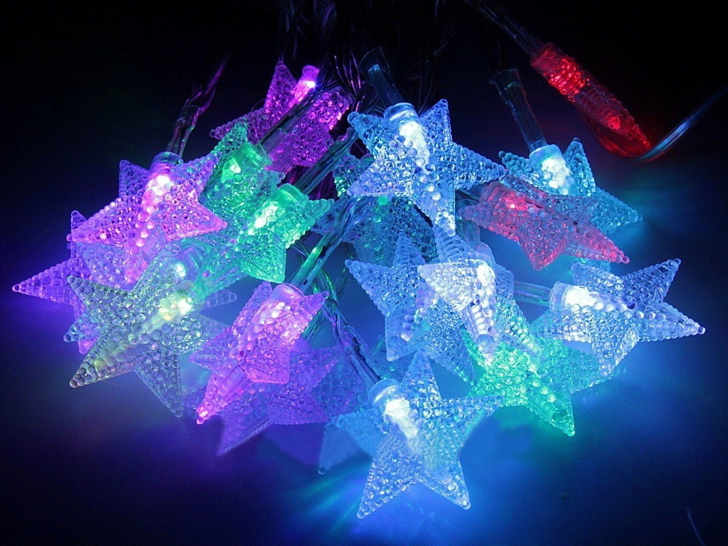 Гирлянда Kaemingk Цветные звездочки 30 RGB LED-огня 2.9+3m 483126 / 165446