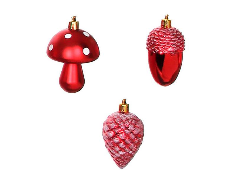 Набор ёлочных игрушек Edelman Лесной сюрприз 6х8cm 3шт 158147 / 1036784