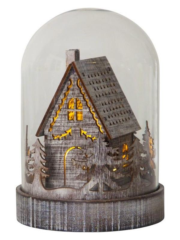 Светящееся украшение Светящийся купол Star Trading Лесная избушка 064-93