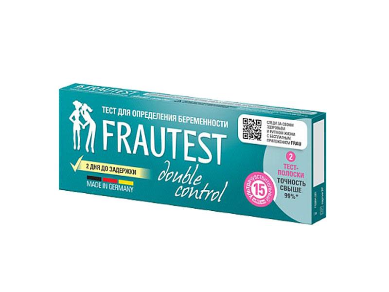 Тест на беременность Frautest Double Control 2шт 102010021