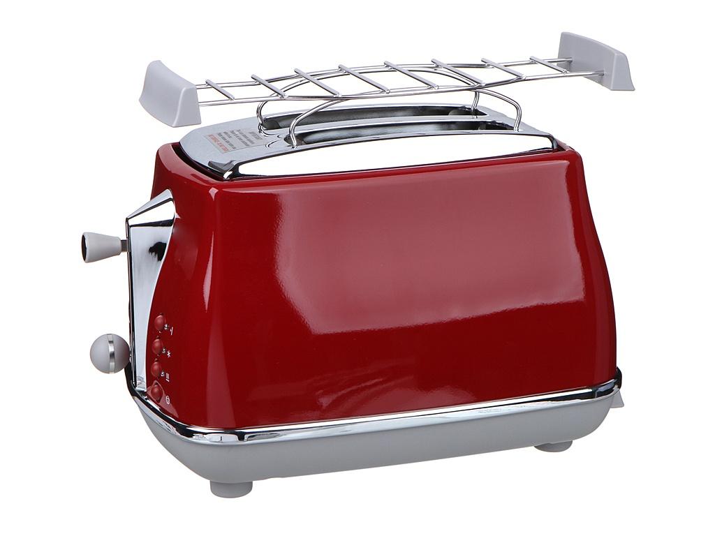 Фото - Тостер DeLonghi CTOC 2103 R тостер delonghi ctz 2103 gy