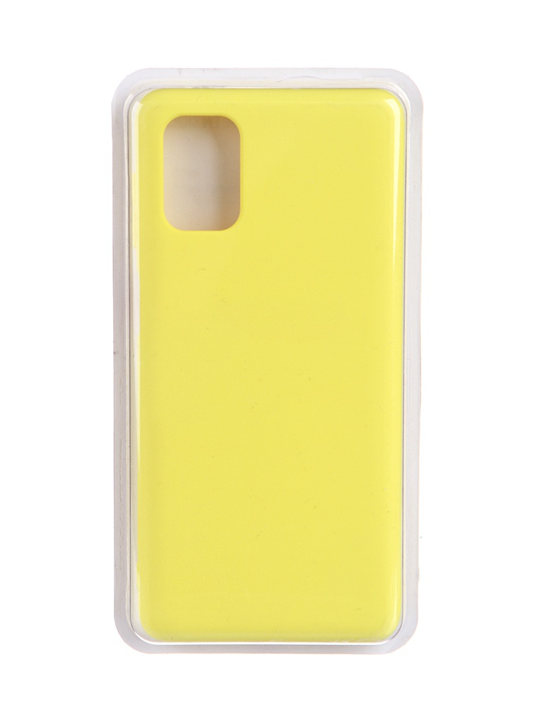 Чехол Innovation для Samsung Galaxy M51 Soft Inside Yellow 19081