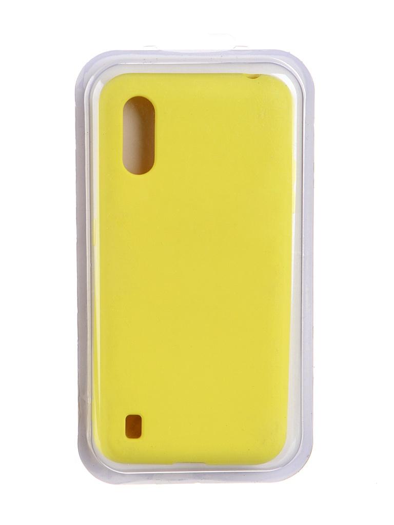 Чехол Innovation для Samsung Galaxy M01 Soft Inside Yellow 19086