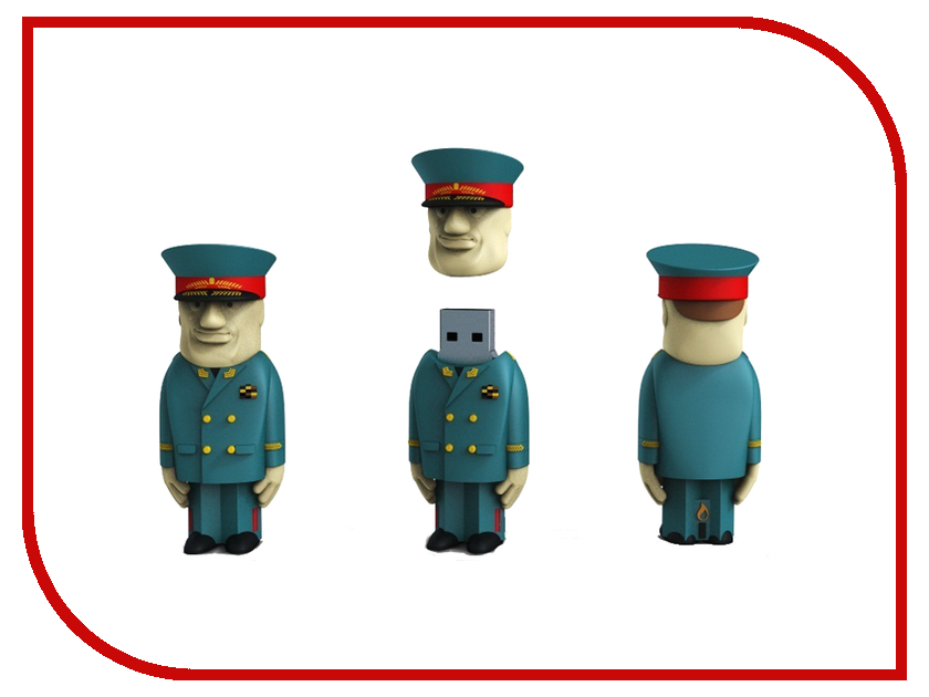 USB Flash Drive 16Gb - Iconik Генерал RB-GENRL-16GB usb flash drive 16gb iconik дед мороз rb dmoroz 16gb