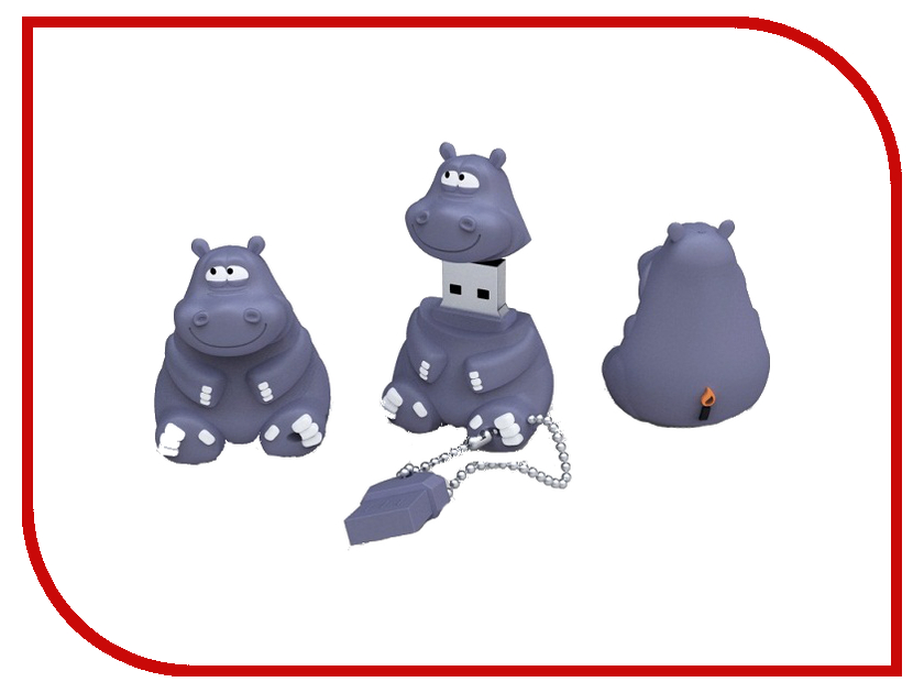 USB Flash Drive 8Gb - Iconik Бегемот RB-HIPPO-8GB<br>