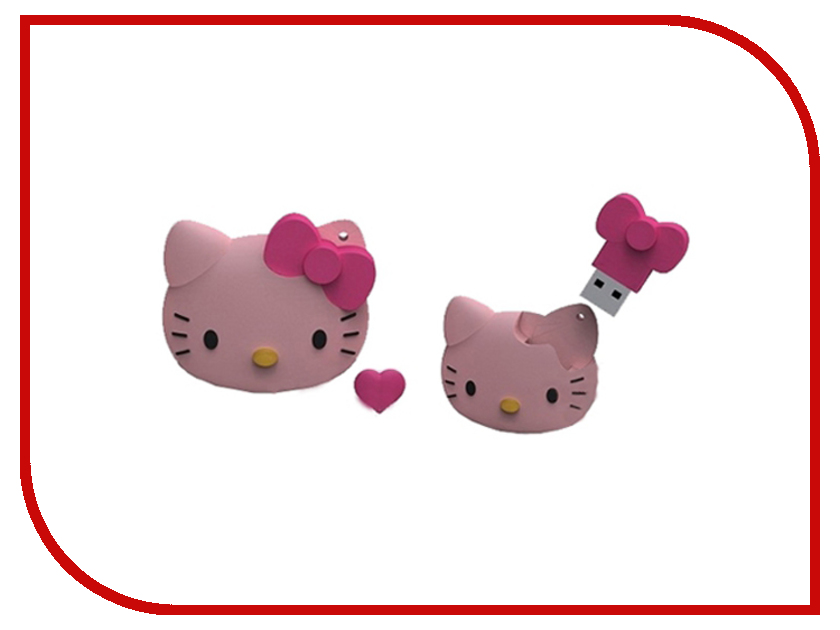 USB Flash Drive 8Gb - Iconik Hello Kitty FACE RB-HKF-8GB<br>