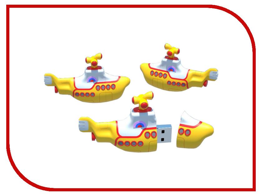 USB Flash Drive 8Gb - Iconik Желтая Подводная Лодка RB-YSUB-8GB игрушка водная душ подводная лодка и кит yookidoo