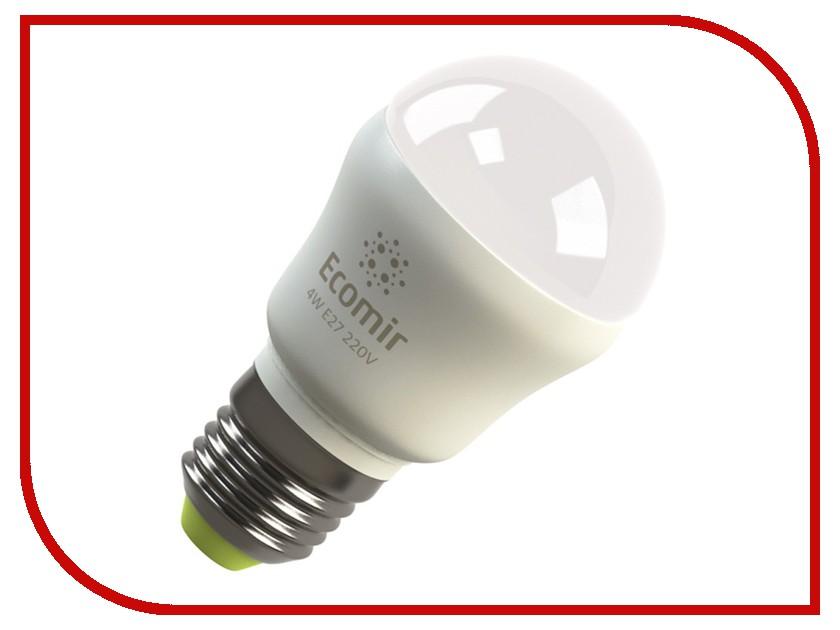 Лампочка Ecomir E27 4W 3000K 220V матовая, желтый свет, экв. 45W 42913 цена