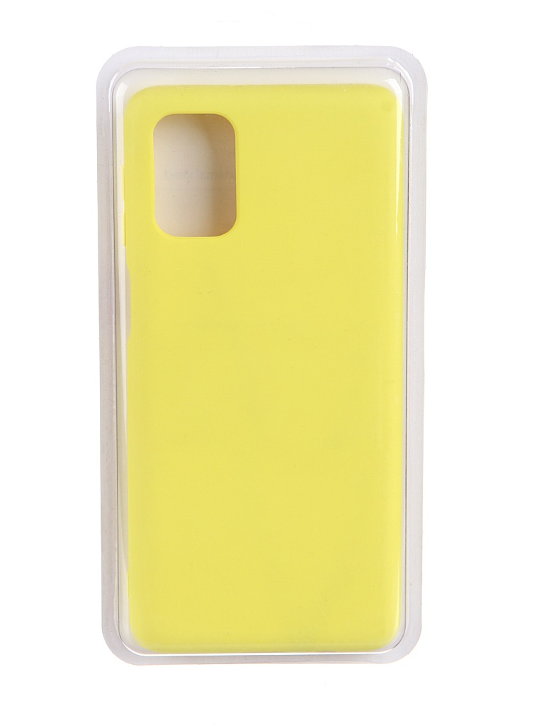 Чехол Innovation для Samsung Galaxy M31S Soft Inside Yellow 19110