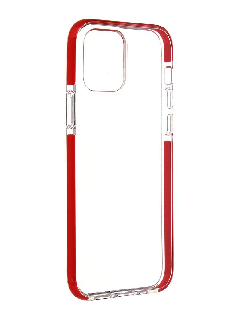 Чехол Gurdini для APPLE iPhone 12 / Pro Crystall Ice Silicone Red 913027