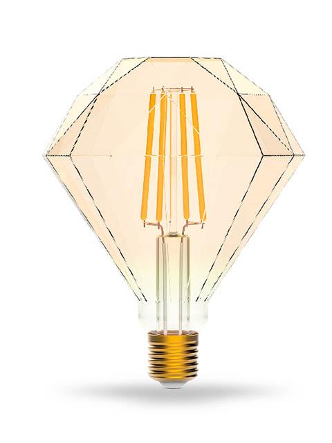 Фото - Лампочка Gauss Smart Home DIM E27 7W 2500K 740Lm Diamond Golden 1350112 лампочка gauss e27 шар dim 7w 590lm 4100k 105102207 d