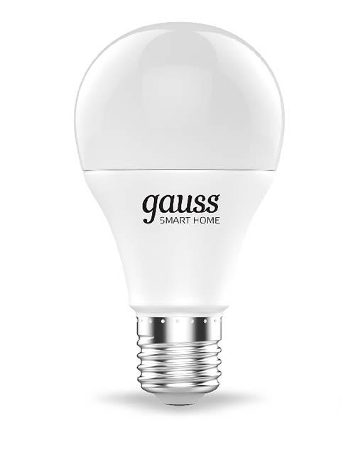 Лампочка Gauss Smart Home RGBW E27 A60 8.5W 2700-6500K 806Lm 1170112