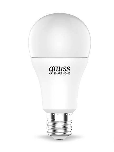 Лампочка Gauss Smart Home RGBW E27 A60 10W 2700-6500K 1055Lm 1180112