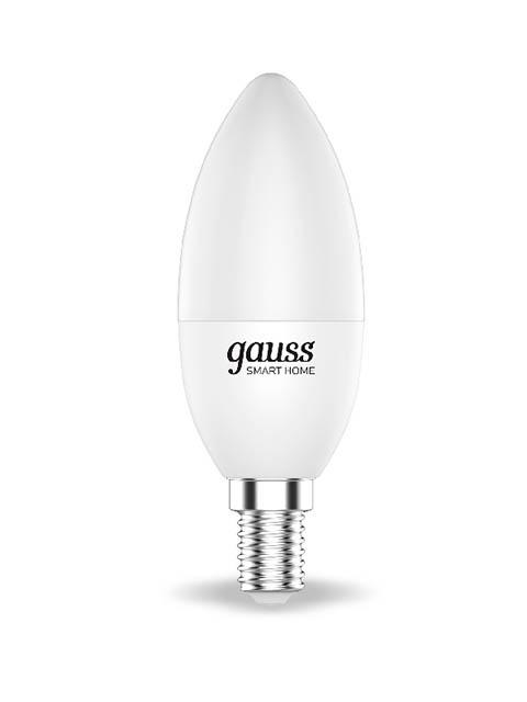 Лампочка Gauss Smart Home DIM E14 C37 5W 2700К 470Lm 1100112 лампочка gauss elementary gu5 3 mr16 5 5w 470lm 6500k 13536