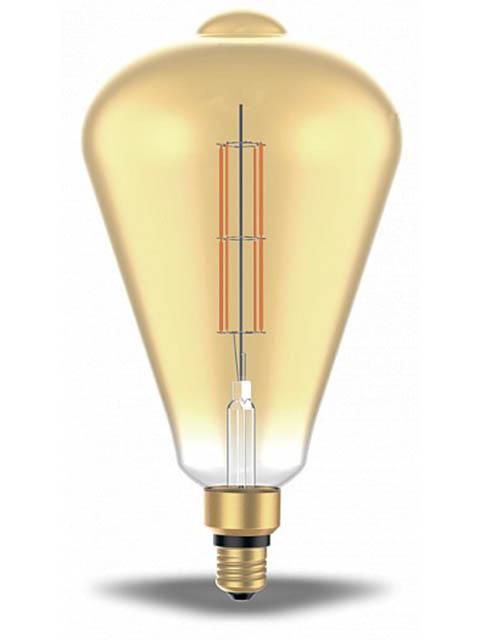 Лампочка Gauss Filament ST164 Е27 6W 2700К 890Lm Golden Straight 157802118