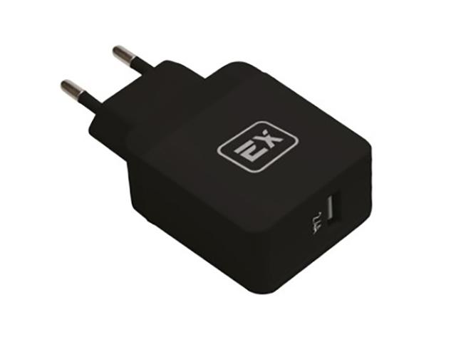 Зарядное устройство Exployd Sonder 1xUSB 2.4A QC3.0 Black EX-Z-434