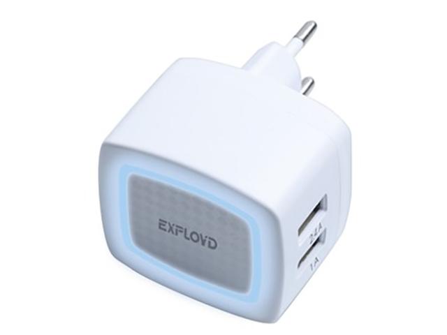 Зарядное устройство Exployd Sonder 2xUSB 3.4A White EX-Z-769