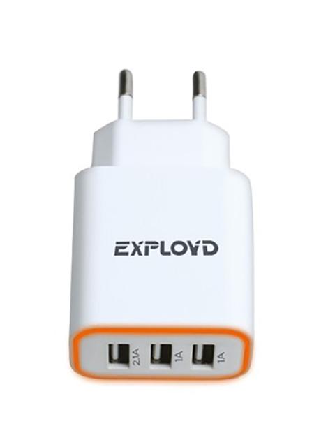 Зарядное устройство Exployd Sonder 3xUSB 4.1A White EX-Z-771