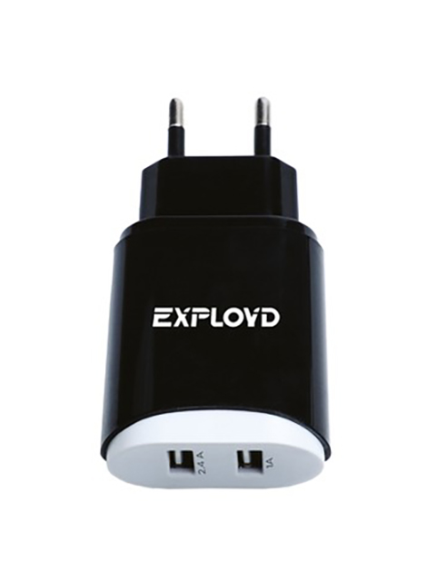 Зарядное устройство Exployd Sonder 2xUSB 3.4A Black EX-Z-772