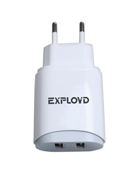 Зарядное устройство Exployd Sonder 2xUSB 3.4A White EX-Z-773