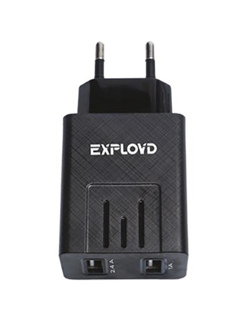 Зарядное устройство Exployd Sonder 2xUSB 3.4A Black EX-Z-774