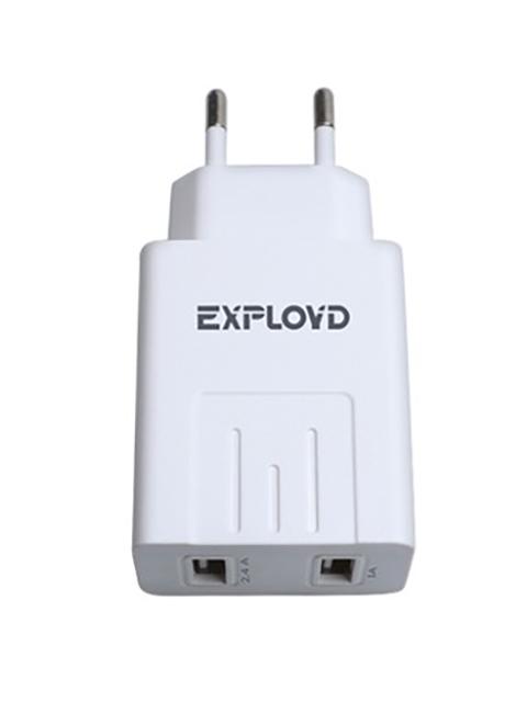 Зарядное устройство Exployd Sonder 2xUSB 3.4A White EX-Z-775