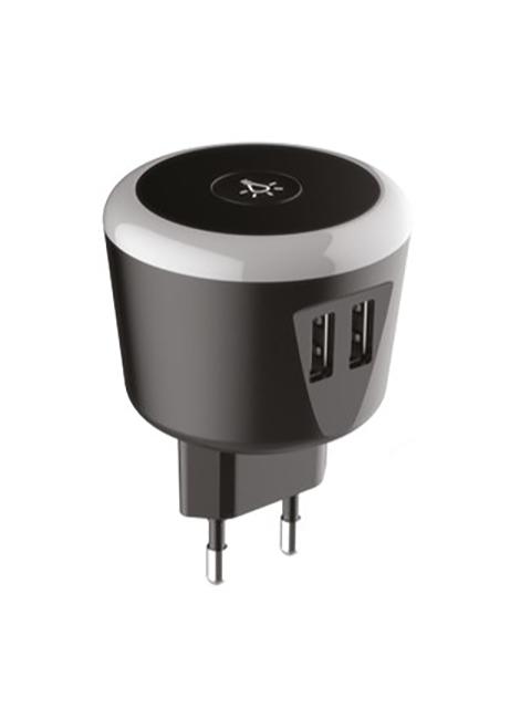 Зарядное устройство Exployd Sonder 2xUSB 3.4A Black EX-Z-776