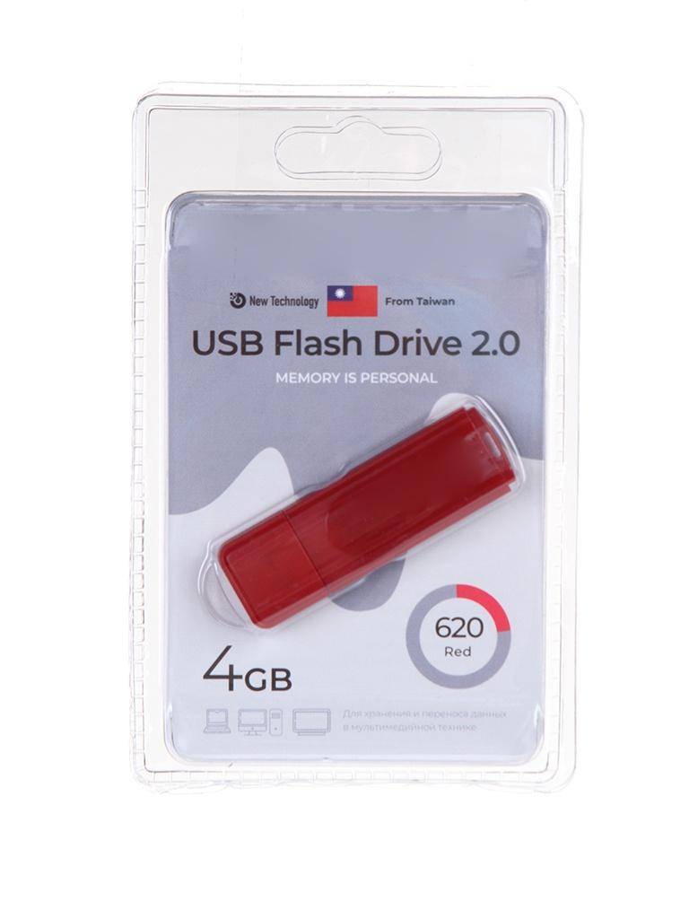 USB Flash Drive 4Gb - Exployd 620 EX-4GB-620-Red