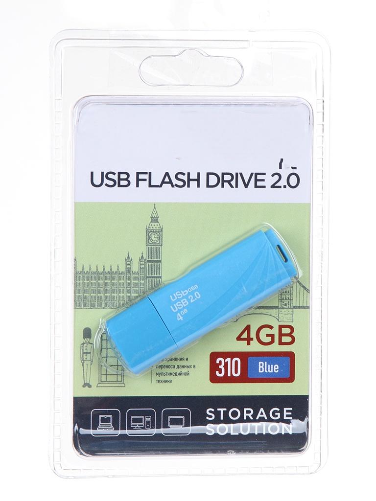 USB Flash Drive 4Gb - OltraMax 310 OM-4GB-310-Blue.