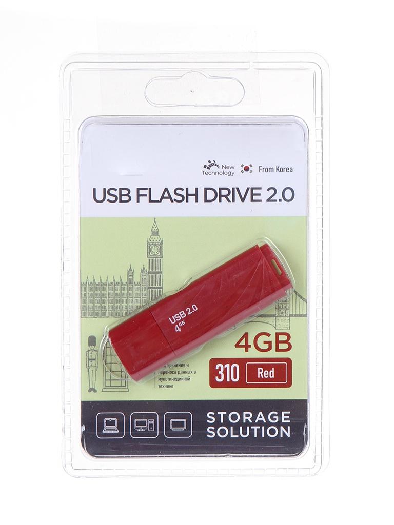USB Flash Drive 4Gb - OltraMax 310 OM-4GB-310-Red.
