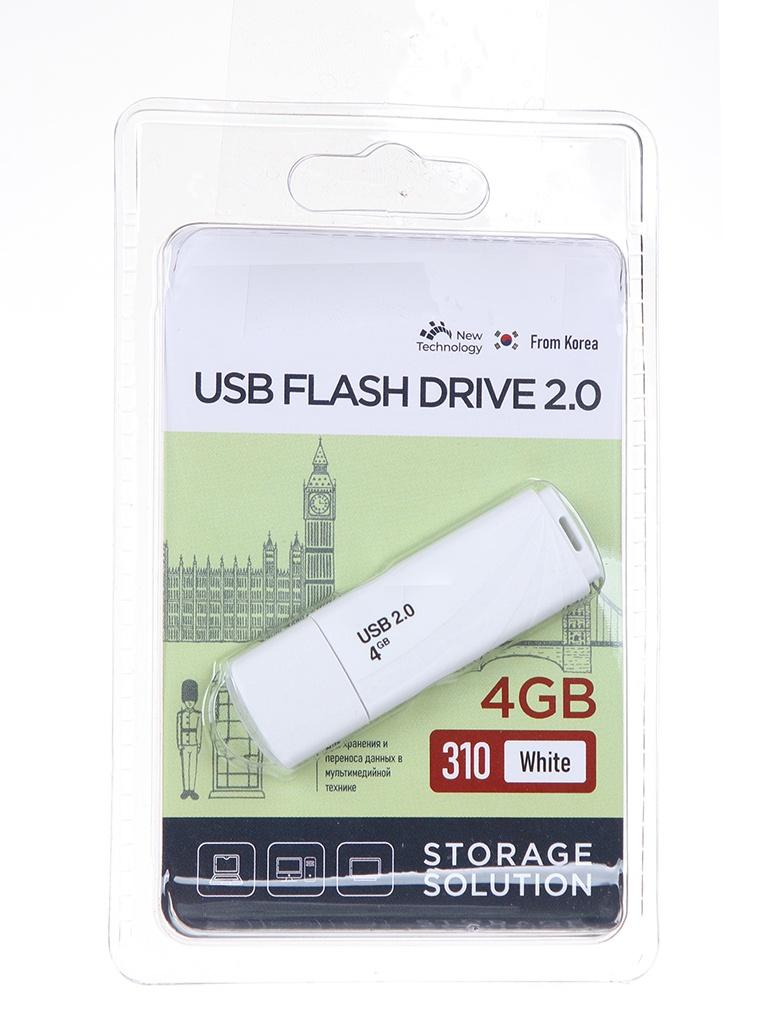 USB Flash Drive 4Gb - OltraMax 310 OM-4GB-310-White.
