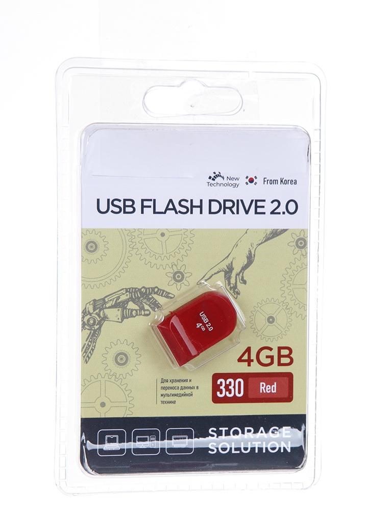 USB Flash Drive 4Gb - OltraMax 330 OM-4GB-330-Red.